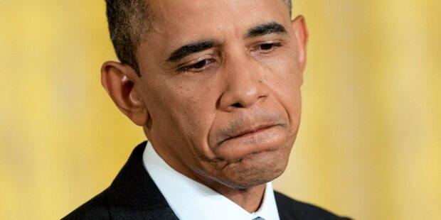 Total-Absturz für Obama