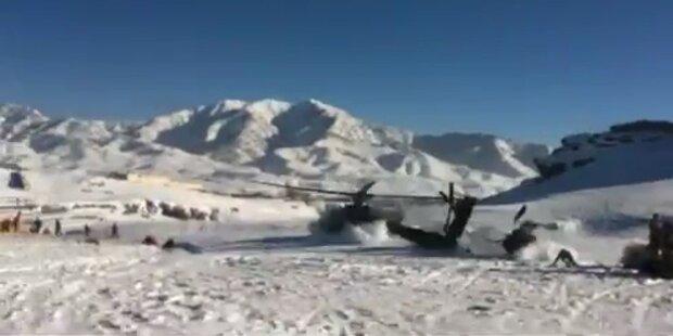 Kampfhubschrauber bei Militärübung abgestürzt