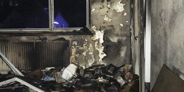 Frau nach Brand in kritischem Zustand