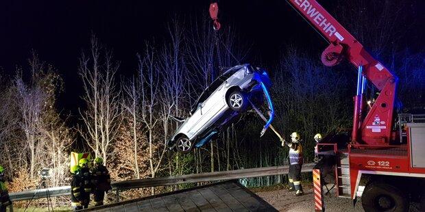 Kärntner stürzte mit seinem Auto 100 Meter über Steilhang