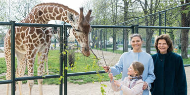 Schwedische Königsfamilie besuchte Tiergarten Schönbrunn
