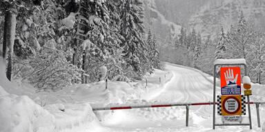 Winter Salzburg Alarmstufe Rot Winterwetter Wetter Schnee Lawinengefahr