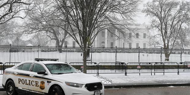 Weißes Haus Washington Schnee