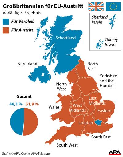 Ergebnisse Wahl England