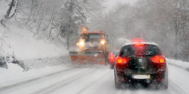 Unfallserie durch Wintereinbruch