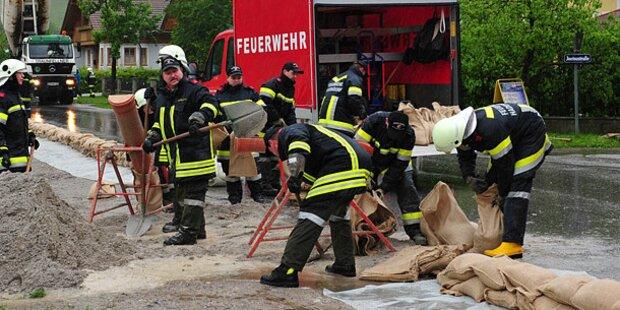 Hochwasserlage nach Unwetter entschärft