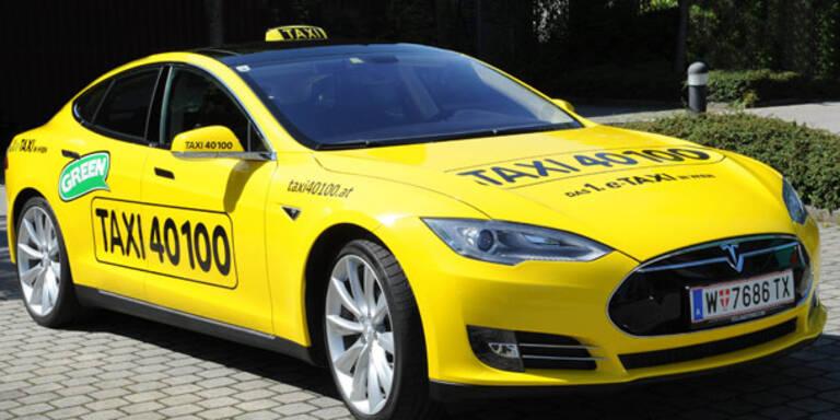 Erstes E-Taxi in Wien gestartet