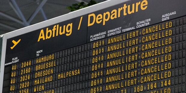 Regenchaos: Flughafen Wien lahmgelegt