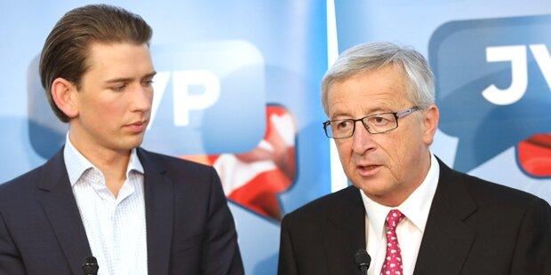 Kurz legt sich mit Juncker an