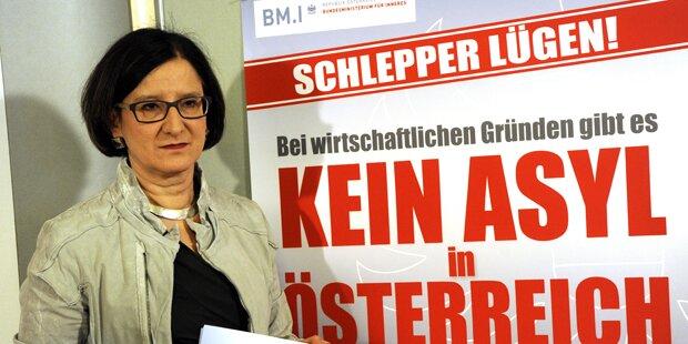 So will Mikl-Leitner den Asyl-Strom stoppen