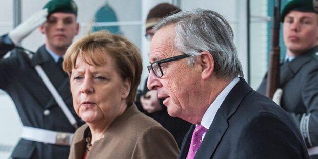Merkel: Vertrauliches Gespräch mit Juncker