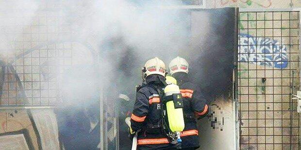 Brand am ehemaligen Wiener Frachtenbahnhof