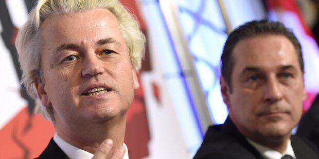 Protest gegen Wilders vor der Hofburg