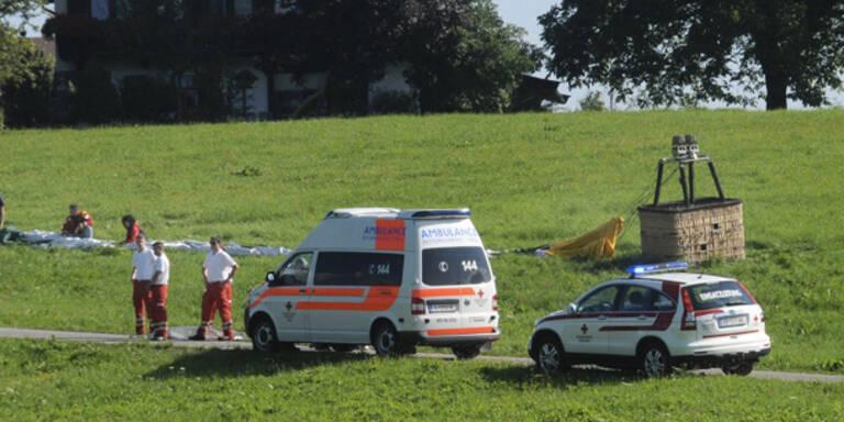 Ballon- Fahrer stürzt 100 Meter in den Tod