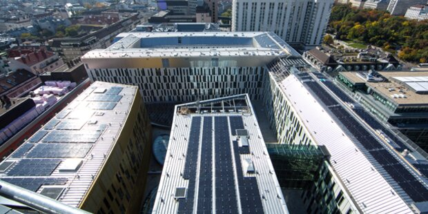 Riesen-Solaranlage bei Wien Mitte in Betrieb