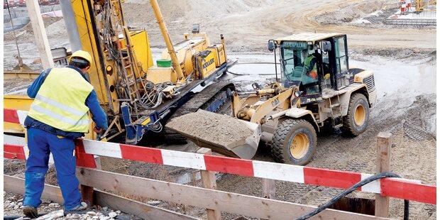 Riedenburg-Baustelle im Zeitplan