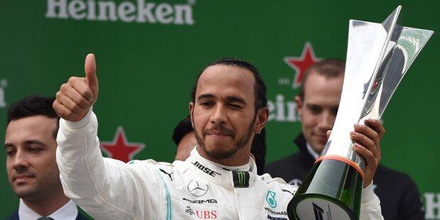 Hamilton siegt beim Jubiläumsrennen