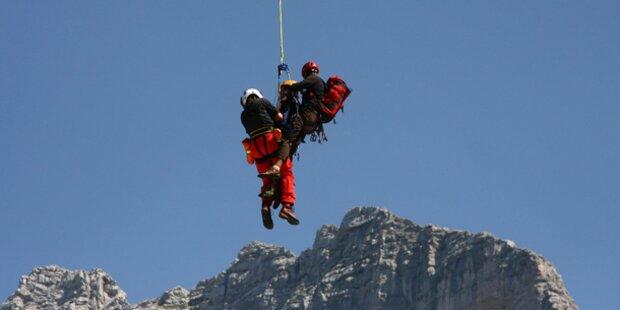 Seilpartner rettet 15 Meter abgestürzten Bergsteiger