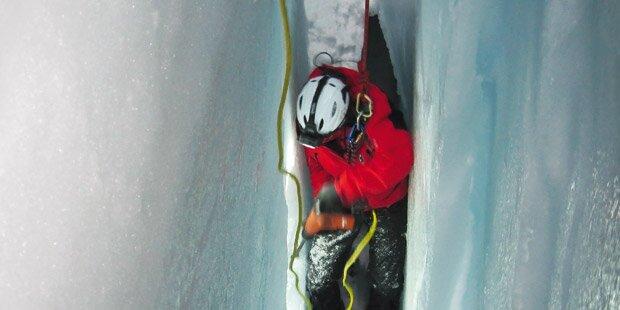 Sturz in Gletscherspalte unverletzt überlebt