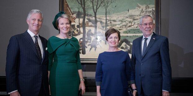 Striktes Programm für belgische Royals in Wien