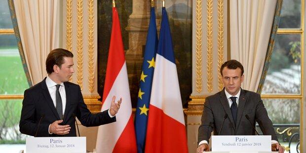 Kurz will mit Macron EU verändern