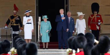 Queen empfing US-Präsidentenpaar im Buckingham-Palace
