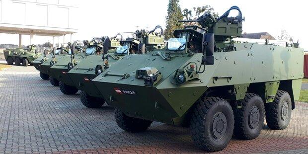 Fünf neue Pandur-Panzer an Bundesheer übergeben