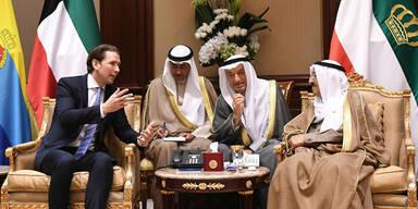 Kurz in Kuwait