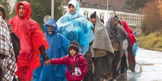 Immer noch 4.000 Flüchtlinge täglich