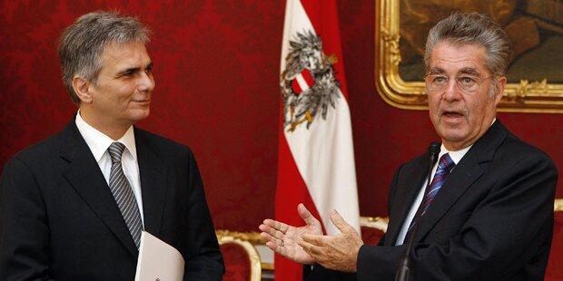 Fischer enthebt Faymann seines Amtes