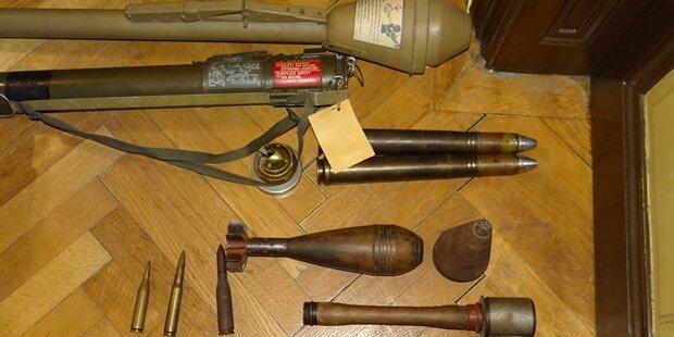 Riesiges Waffenlager in Wiener Wohnung entdeckt