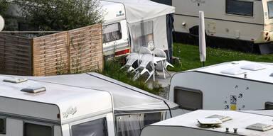 Campingplatz Wohnwagen