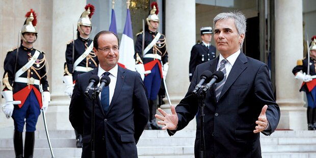 Faymann trifft sich mit Hollande