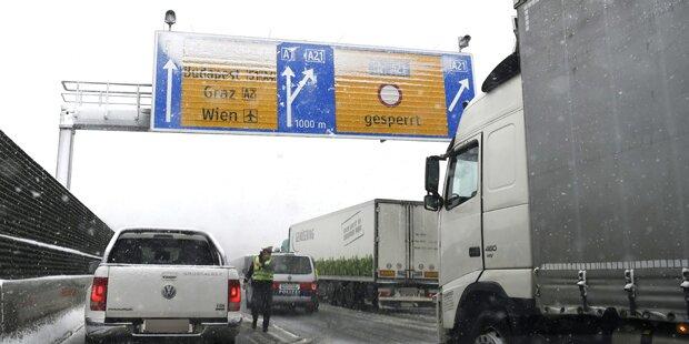 Schnee-Skandal auf Autobahn