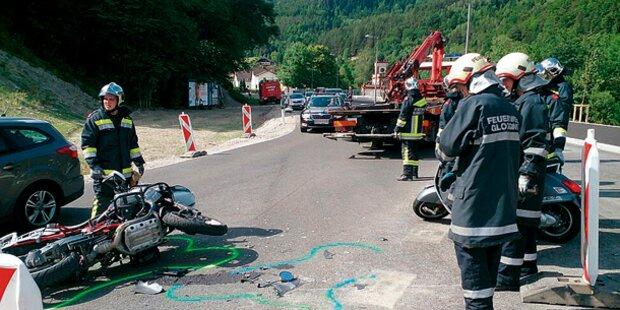 Biker-Wahnsinn: Ein Toter, vier Verletzte