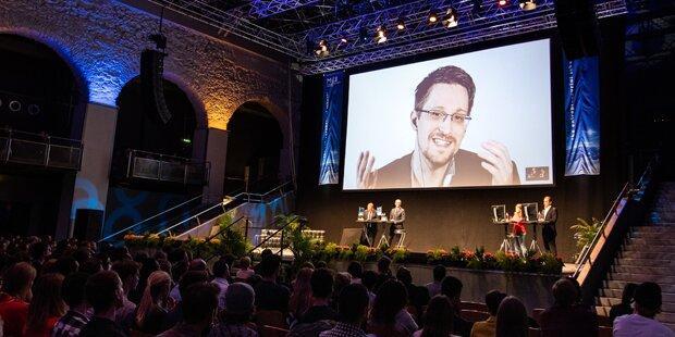 Edward Snowden erstmals in Österreich