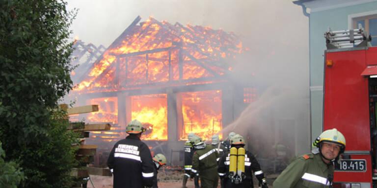 Sägewerk ging in Flammen auf
