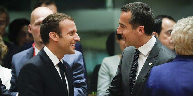 Kern holt Macron zu Festspielen