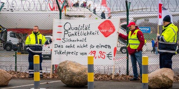 Streik an Berlins Flughäfen bis Mittwoch verlängert