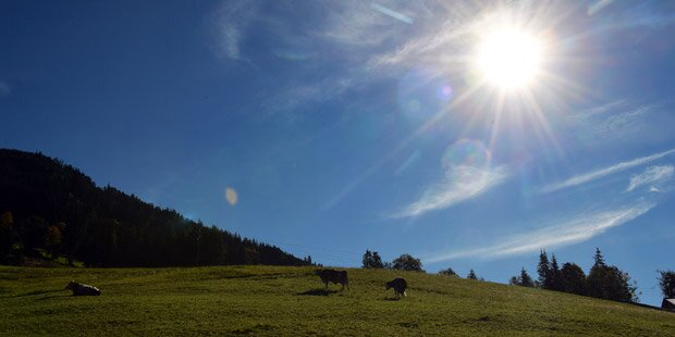 Vorsicht bei tiefstehender Sonne