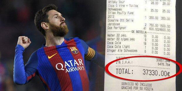 37.330 Euro! Messis Monster-Rechnung aufgetaucht