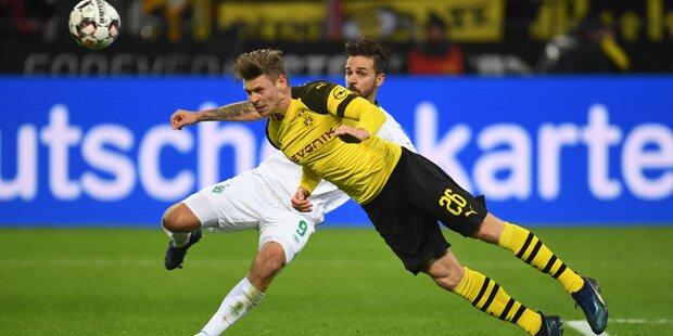 Harnik Matchwinner gegen Dortmund
