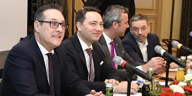 Haimbuchner & Kickl als Kritiker von Strache