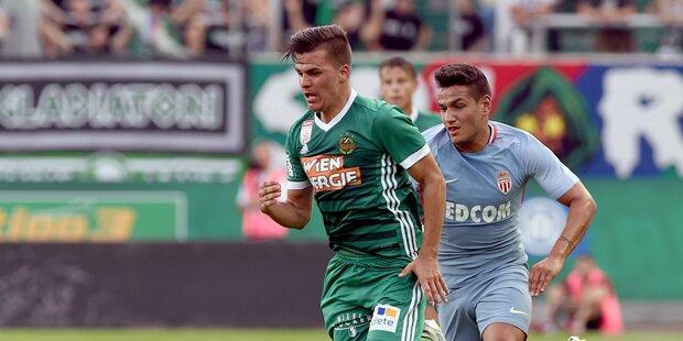 Rapid holt Remis gegen Monaco