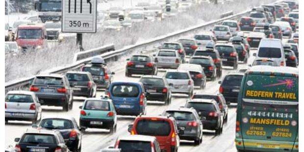 Schneechaos gestern im Osten Österreichs
