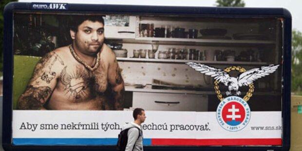 Anti-Roma-Großplakat empört die Slowakei