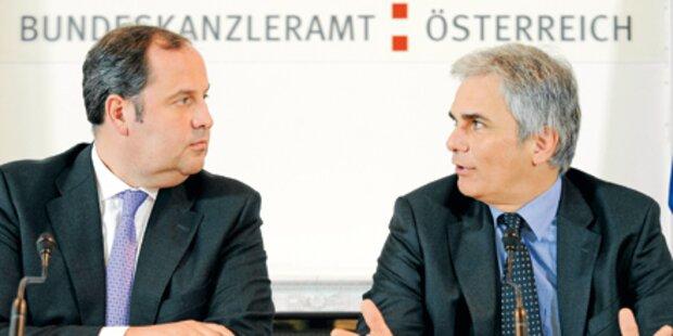Pröll & Faymann auf Anklagebank