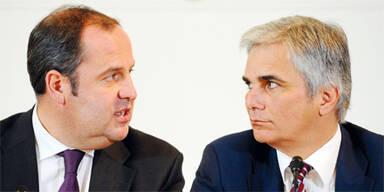 Josef Pröll & Werner Faymann