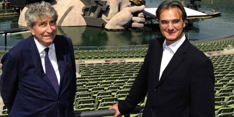 Festspiel-Präsident Günter Rhomberg und der neue Intendant der Bregenzer Festspiele Roland Geyer