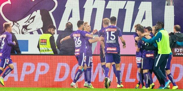 Trotz zweifacher Führung: Austria nur 2:2 in St. Pölten